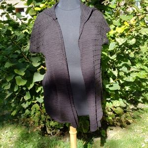 Maurice's plus open front hooded cardigan